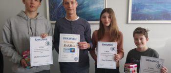 Sieger im Geographie-Wettbewerb unserer Schule